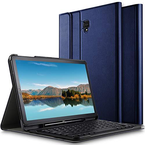 ELTD Tastatur Hülle für Samsung Galaxy Tab S4 T830/T835,[Deutsches QWERTZ-Layout],Standfunktion Hülle mit Abnehmbar Kabellose Tastatur für Samsung Galaxy Tab S4 T830/T835 10.5 Zoll 2018 [Blau]