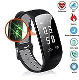 Slim Touch Wasserdicht Fitness Armbänder mit Pulsmesser,Smart Fitness Tracker mit Herzfrequenzmesser, Schrittzähler, Schlaf-Monitor, Aktivitätstracker,Anrufen/SMS, für Android iOS Smartphone. (1)