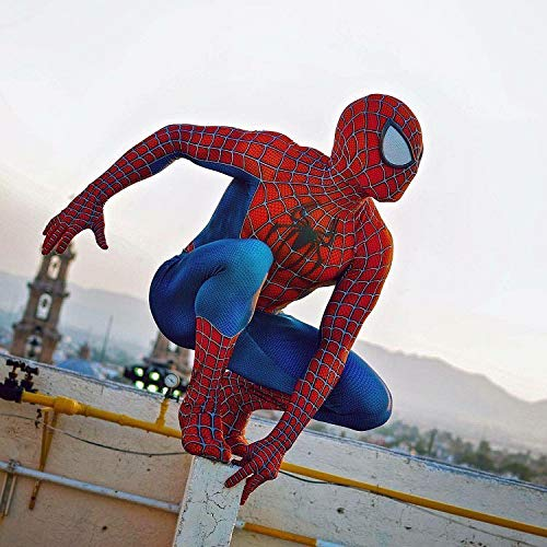 Spiderman Kostüm Kind Erwachsener Cosplay Kostüm Superhelden Halloween Mottoparty Onesies 3D Druck Strumpfhosen,Mens-XL