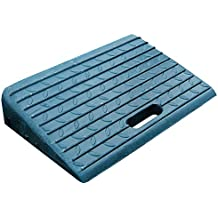 Rampas de bordillo portátiles de goma para acceso de automóviles, motocicletas y sillas de ruegas (paquete de 2)