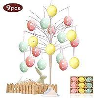 Prendi queste uova di Pasqua - Goditi il   tuo felice festival di Pasqua !!   Specification:   Materiale: plastica Colore: giallo, blu, rosa e Dimensione dell'uovo: 4 cm / 1.57 pollici Formato scatola: 13 * 10 * 3.2 cm / 5.1 * 3.9 * 1.25 pol...