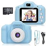 Macchina Fotografica per Bambini, Digital Camera Kids Videocamera, Bambini Fotocamera Digitale Portatile Selfie Videocamera (Blu)