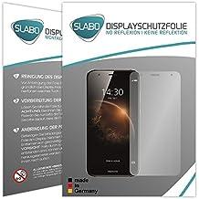 """2 x Slabo protector de pantalla Huawei G8 / GX8 lámina protectora de pantalla (protector de pantalla reducido, a causa de la pantalla curvada) """"No Reflexion - No Reflexiones"""" MATE suprime reflejos MADE IN GERMANY"""