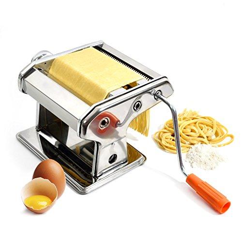 Nudelmaschine aus Edelstahl Pastamaker Pastamaschine; Die Nudel Maschine für frische Pasta