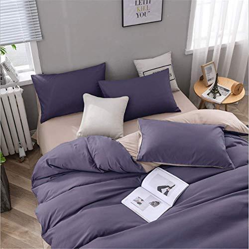 SHJIA Cotton Pure Color Bettwäsche Set König Queen Size Bettwäsche Bunte Bettwäsche Kissenbezug D 200x230cm