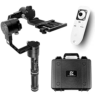 Zhiyun Crane 3 axle Handheld Stabilizer 3-axis gimbal for DSLR Canon Cameras Support 1.8KG with a Bluetooth Wireless Remote Controller by CS PRIORITY