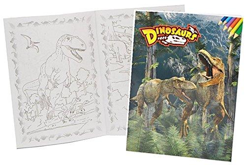 Dinosaurier Buchstütze (Malbuch A4 - Dinosaurier Dino - Malvorlagen Dinos zum Ausmalen Malspaß groß Tyrannosaurus Rex Saurier)