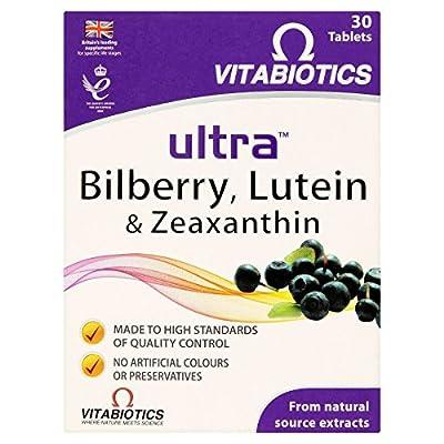 4 x Vitabiotics Ultra Bilberry, Lutein & Zeaxanthin 30 Tablets from Ultra