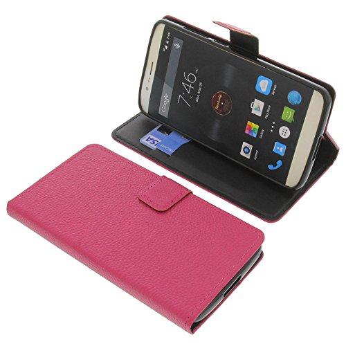foto-kontor Tasche für Elephone P8000 Book Style pink Schutz Hülle Buch