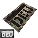Multicam Infrared IR Germany Flagge DEU Deutschland Flagge 3.5x2 Laser IFF Taktisch Tactical Morale Fastener Aufnäher Patch
