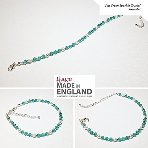 handmade-sea-green-sparkle-crystal-bracelet-silver-plated-components