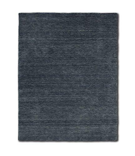 Morgenland Gabbeh Teppich Grau Anthrazit UNI Einfarbig Handgewebt Schurwolle 240 x 170 cm