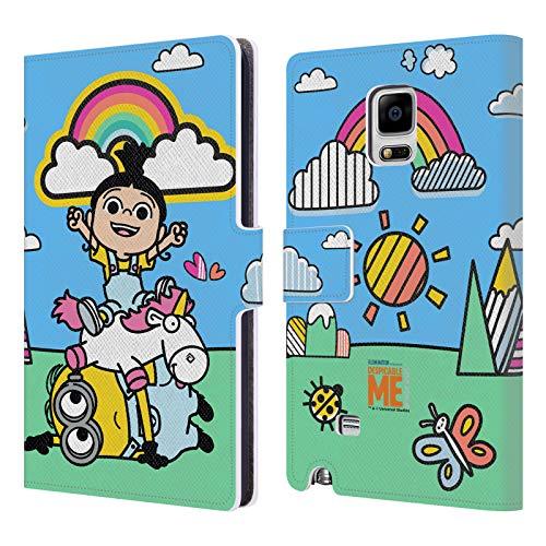 Head Case Designs Offizielle Despicable Me Agnes, Minion Bob Und Einhorn Es Ist So Kuschelig Leder Brieftaschen Huelle kompatibel mit Samsung Galaxy Note Edge