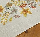 """TFH Tischläufer """"beige mit Herbstblättern"""" Tischdeko Blätter Tischdecke Herbst Tischwäsche Herbstdeko Winterdeko - 3"""