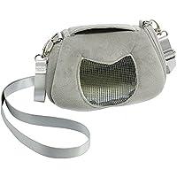 ASOCEA Tragbar Pet Carrier ausgehendem Handtasche mit Verstellbarer Single Schultergurt Tasche Transportbox für Hamster Sugar Glider Eichhörnchen Kleine Tiere 11,9x 6,9cm