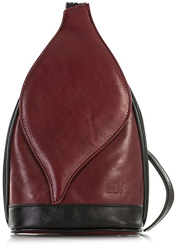 ef746a79783b5 LiaTalia Niedliche kleine italienische Echtleder Cabrio Riemen Rucksack  Schultertasche mit einer Schutztasche - Kim Tiefrot -
