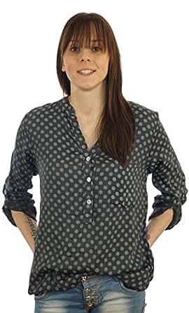 Bild nicht verfügbar. Keine Abbildung vorhanden für. Farbe  Styled in Italy  Bluse Tunika Longbluse mit Punkten Lässige Bluse Fischerhemd ... 58f1ab0339