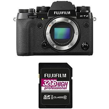 Fujifilm - X-T2 Boitier - Nu + Carte Mémoire 32 Go