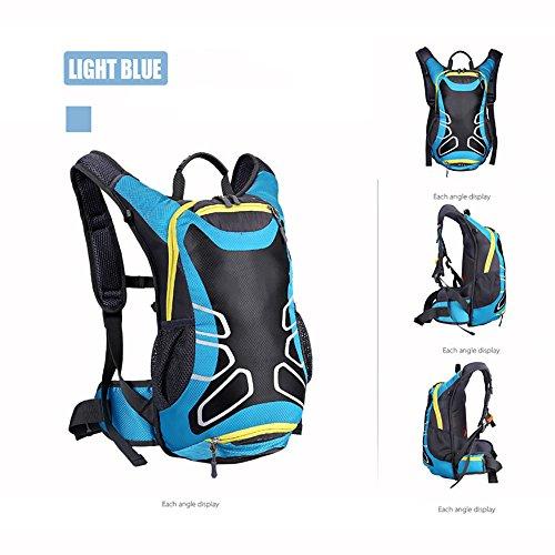 Imagen de skytower 15l azul negro ligero bicicleta casco de equitación  baloncesto neto bolsa  camping montaña top viaje  casual  escolar  para deportes al aire libre alternativa