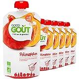 Good Goût - BIO - Gourde de Légumes Potimarron dès 4 mois - 6 gourdes de 120 g