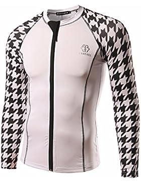 Elegante chaqueta de hombres camisas de manga larga intersección T-shirt ride, servicios