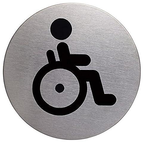 Pictogramme Toilettes - Durable 490623 Plaque d'Information Pictogramme Rond 83
