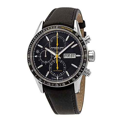 Montre Automatique Raymond Weil Freelancer, 42 mm, Noir, PVD, Date, 10 ATM