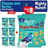 Slurrp Farm Mighty Puff - Cheese and Herbs with zero transfat (Pack of 8)