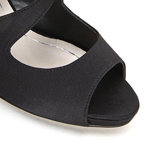 ALESYA by Scarpe&Scarpe - Sandales hautes avec brides mignon croisées, à Talons 7 cm Noir