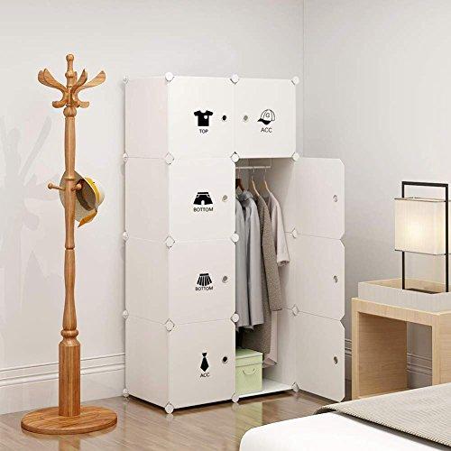 Koossy Erweiterbares Kleiderschrank Regalsystem für Kinderzimmer Wohnzimmer und Schlafzimmer 440L,...