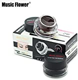 #3: Music Flower Gel Eyeliner, Black -01, Brown- 01, 6 Grams