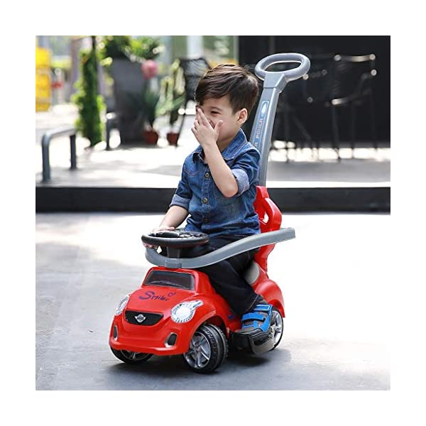 Twist car Swing car Children's 1-3 Years Old Baby Yo Car Scooter With Music Early Education Puzzle Hand Push Walker Four-wheeler FANJIANI (color : Red) Twist car ▶Tip: The delivery time of the product is 8-15 days, If you have any questions, please feel free to contact us ▶Environmental PP material, non-toxic, no odor, corrosion resistance, high temperature resistance, anti-drop, shockproof, baby play more assured ▶By grasping, it can promote the development of the cerebellum, stimulate the baby's left and right brain, and constantly adjust the steering wheel, exercise the baby's sense of direction and hand-eye coordination, effectively cultivate the baby's potential 3