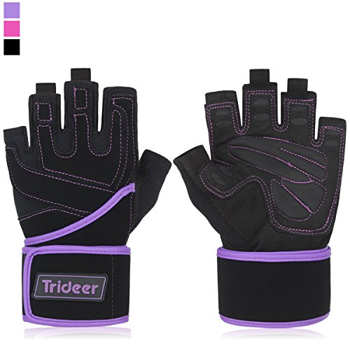 Trideer Women s Padded – Weight Lifting Gloves