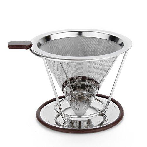 DyNamic 115mm Edelstahl-Kaffee Filter mit Becher Ständer