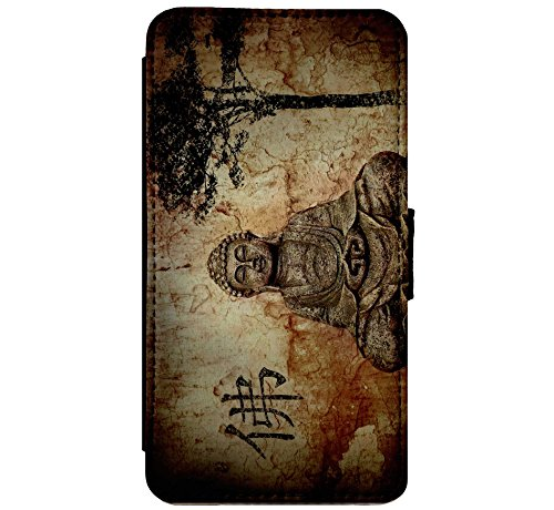 Buddha Statue - Buddhism - Peace Leather Flip Phone Case Cover - Wallet - For iPhone & Samsung's (iPhone 5 / 5s / SE)