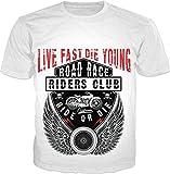 100ANB - LIVE FAST DIE YOUNG - ROAD RACE RIDERS CLUB - RIDE or DIE RACER SPEED (2 - 33) - MOTOR BIKER RIDER SPORTS BIKE MOTO CROSS RACING - GRAPHIC PR