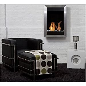 Fireplace Bio Ethanol Stainless Steel Square Vertical Bio-Blaze