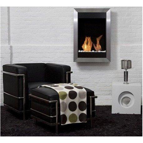 Fireplace Bio Ethanol Stainless Steel Square Vertical Bio-Blaze