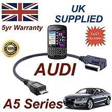 AUDI A5 Series 2008+ AMI MMI Cable Para Blackberry Q10 4F0051510M Cable MICRO-USB