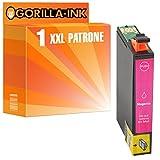 Gorilla-Ink® 1x Patrone XXL GI1813 Magenta kompatibel für Epson Expression Home XP-30 XP-302 XP-305 XP-312 XP-313 XP-315 XP-33 XP-402 XP-405 XP-412 XP-415