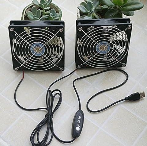 Deux ventilateurs de refroidissement à double roulement à billes 12