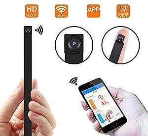mini camaras inalambricas baratas: Cámara espía ocultada WiFi, cámara inalámbrica Super Mini 1080P Video de Segurid...