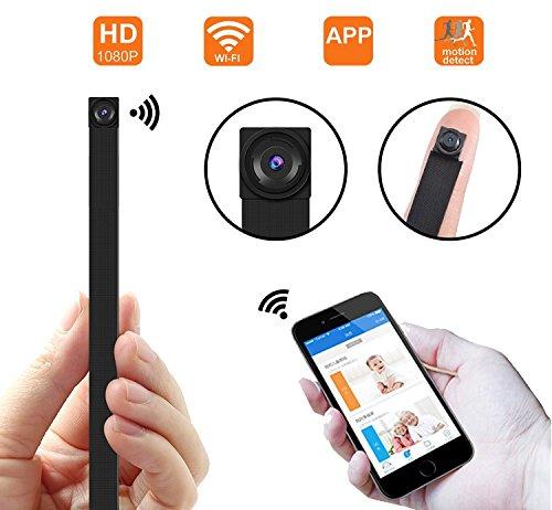 Cámara espía ocultada WiFi, cámara inalámbrica Super Mini 1080P Video de Seguridad con detección de Movimiento, App Control para iOS y Android