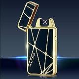 KOSMIK Feuerzeug USB Aufladbar Feuerzeug Lichtbogen Feuerzeug Elektronisches Feuerzeug Metall Plasma Elektro USB Feuerzeug Electric Lighter Valentinstag Geschenk für Freund. (Gold)