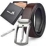 Cinturones Hombre Cinturones de Piel Marrón Hebilla de Pin de Aleación de Estilo Casual...