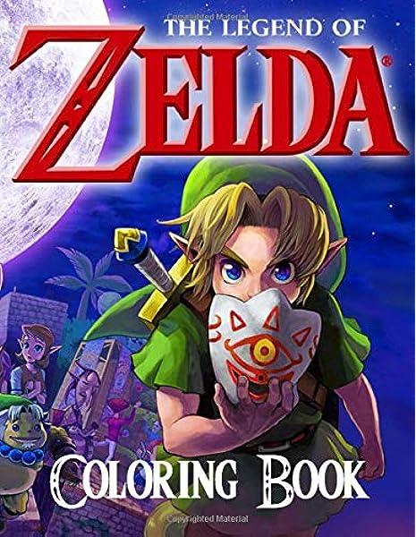 Legend Of Zelda Link Coloring Pages: Free Printable Zelda Coloring ... | 600x465