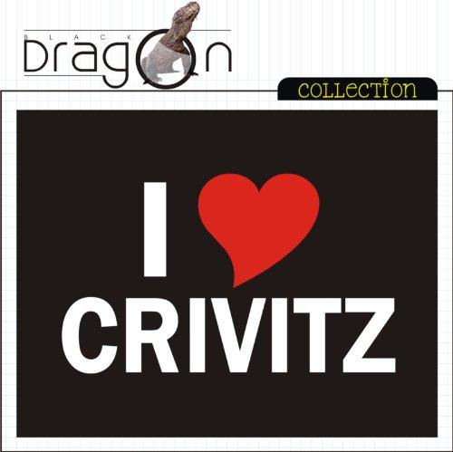 T-Shirt mit Städtenamen - i Love Crivitz - Herren - unisex Schwarz