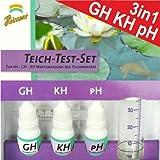 Wassertest 3in1 Teichtest Set Teichwasser Schnelltest GH-KH-pH Werte