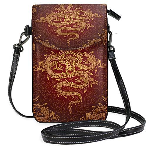 ZZKKO Mini-Umhängetasche, Handtasche, Handtasche aus Leder, für Damen, lässig, Reisen, Wandern, Camping