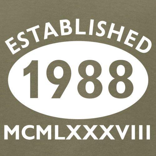 Gegründet 1988 Römische Ziffern - 29 Geburtstag - Herren T-Shirt - 13 Farben Khaki